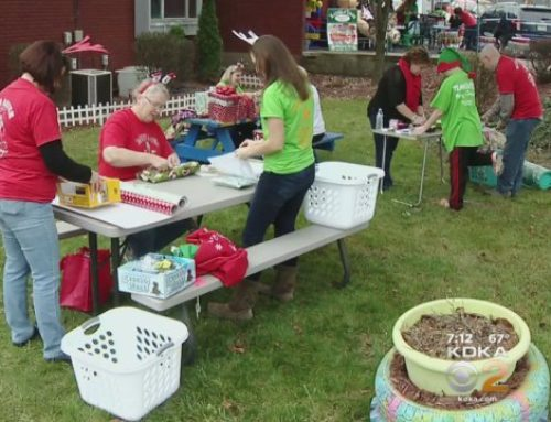 KDKA-TV: Hundreds Of Volunteers Wrap Gifts For Batch Foundation Toy Drive