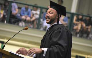 Charlie Batching speaking at Bethany College Commencement