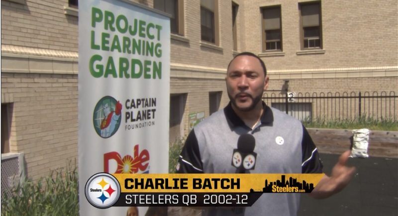 Charlie Batch at Project Learning Garden