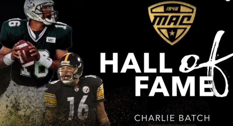Quarterback Charlie Batch MAC Hall of Fame from Eastern Michigan University