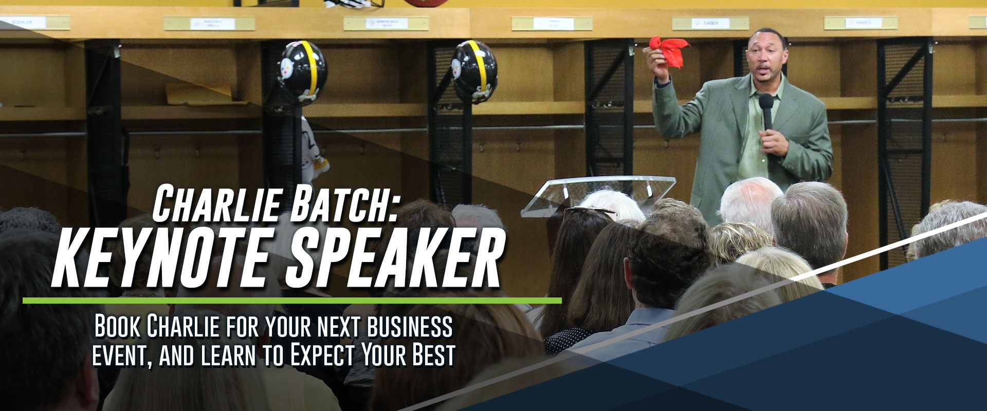 Charlie Batch Expect Your Best Keynote Speaker Slider