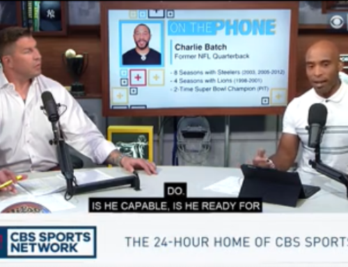 CBS Sports' Tiki and Tierney Talk Steelers Football with Charlie Batch